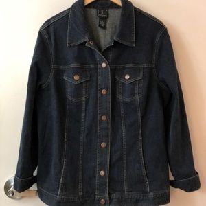INC Denim Trucker Jacket Blue 1X